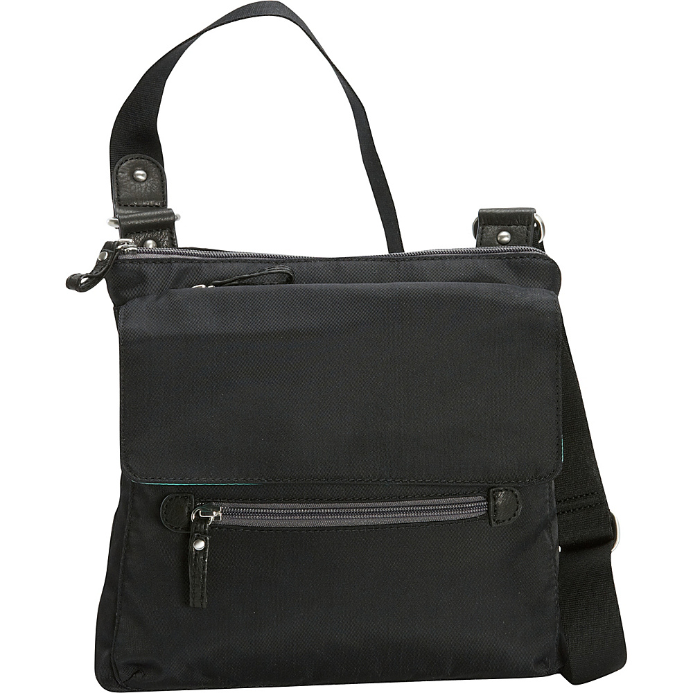 Osgoode Marley Flapped Crossbody Black Osgoode Marley Fabric Handbags
