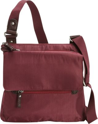 Osgoode Marley Flapped Crossbody Cranberry - Osgoode Marley Fabric Handbags
