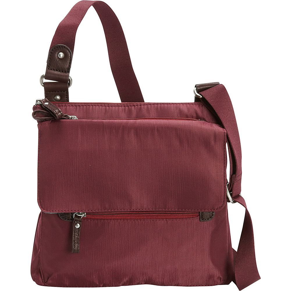 Osgoode Marley Flapped Crossbody Cranberry Osgoode Marley Fabric Handbags