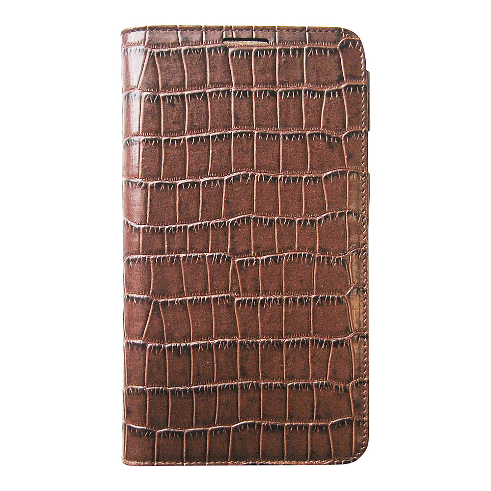 Tanners Avenue Samsung Galaxy Note 3 Leather Case Wallet Brown Croc Tanners Avenue Electronic Cases