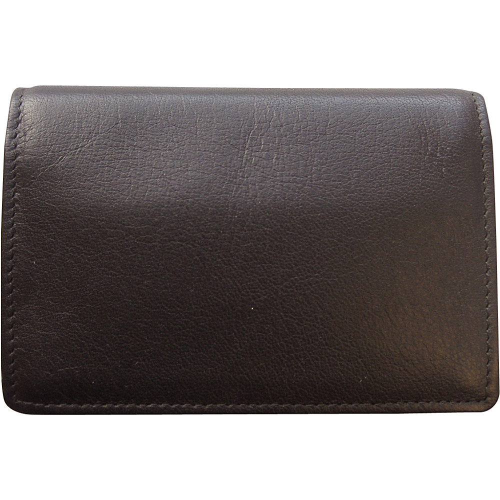 Tanners Avenue Premium Leather Gusset Card Case Espresso Brown Tanners Avenue Men s Wallets