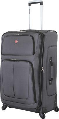 SwissGear Travel Gear 29 inch Spinner Luggage Dark Grey - SwissGear Travel Gear Softside Checked