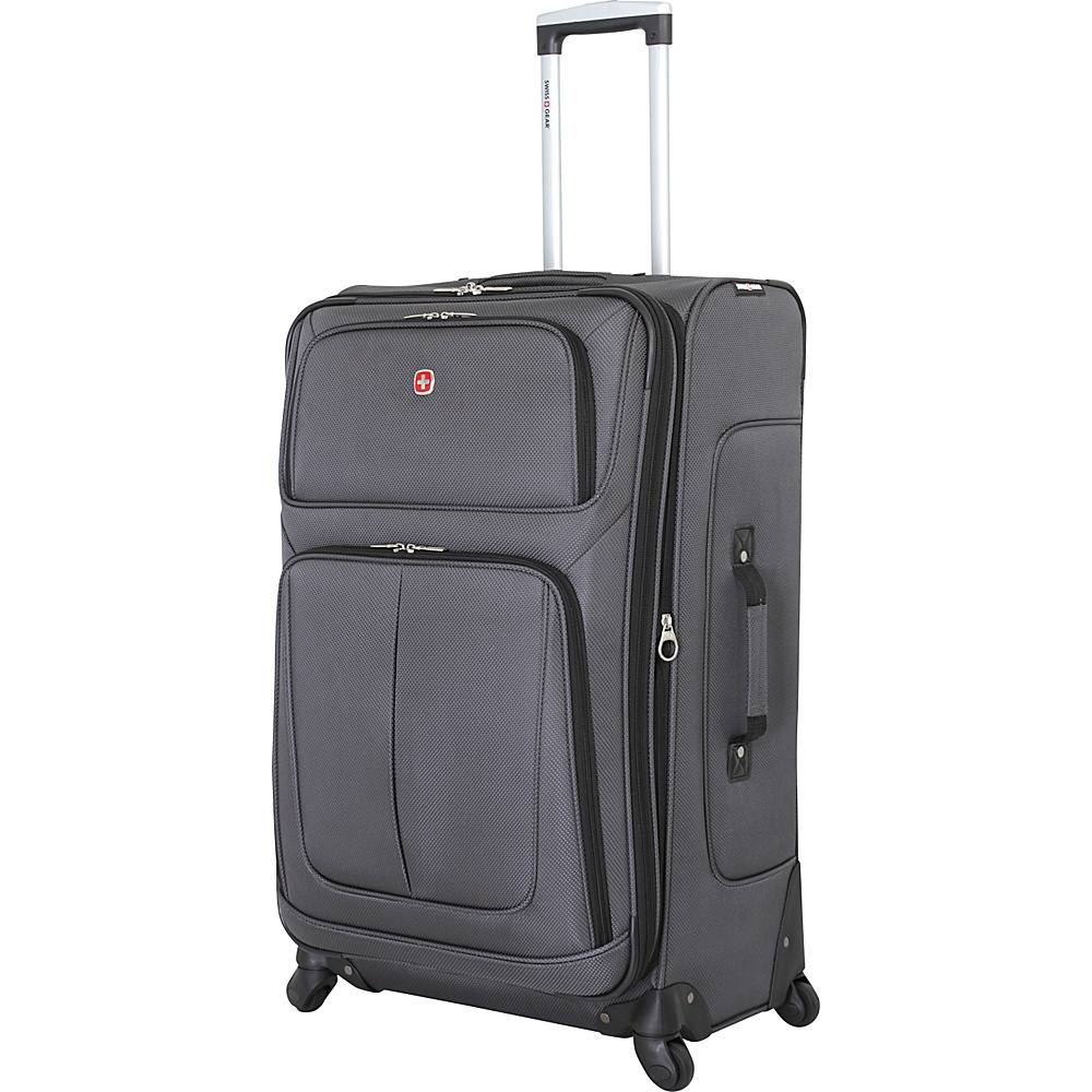 SwissGear Travel Gear 29 Spinner Dark Grey SwissGear Travel Gear Softside Checked
