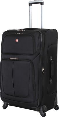 SwissGear Travel Gear 29 inch Spinner Luggage Black - SwissGear Travel Gear Softside Checked
