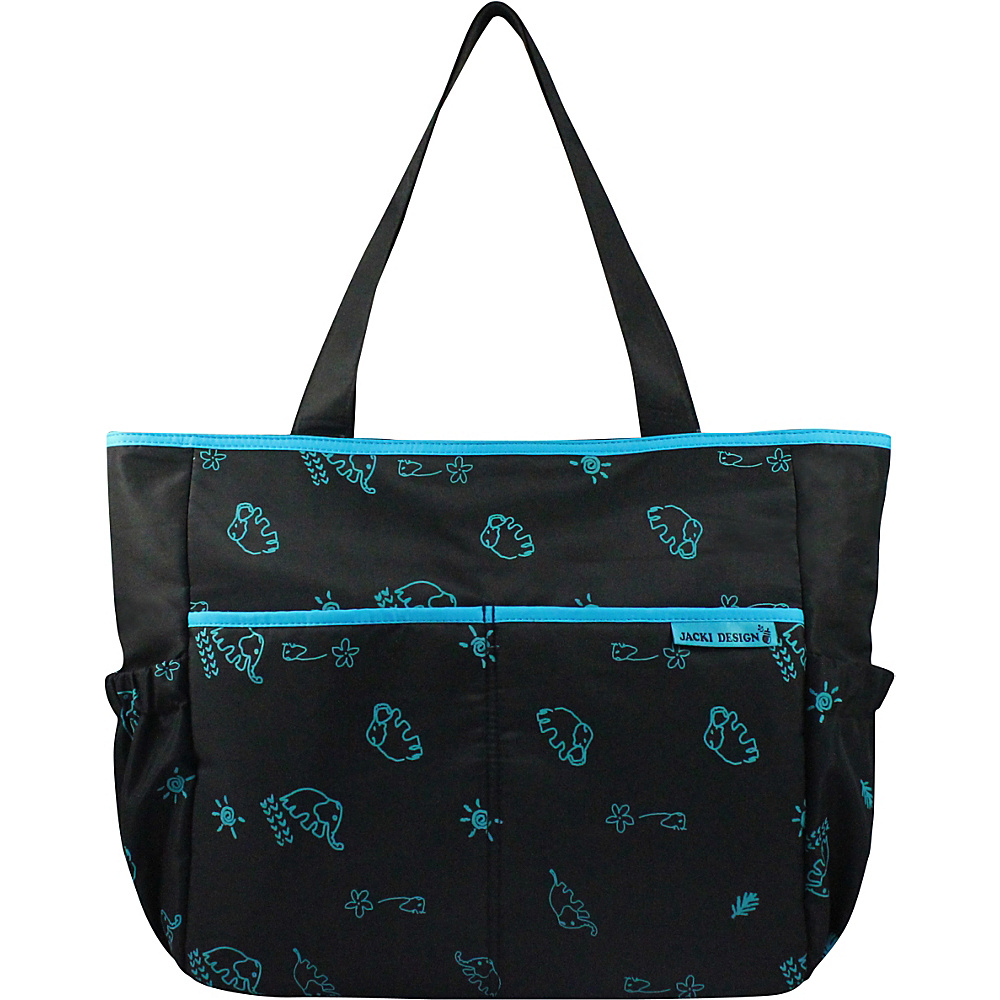 Jacki Design Printed Diaper Bag Black Blue Jacki Design Diaper Bags Accessories