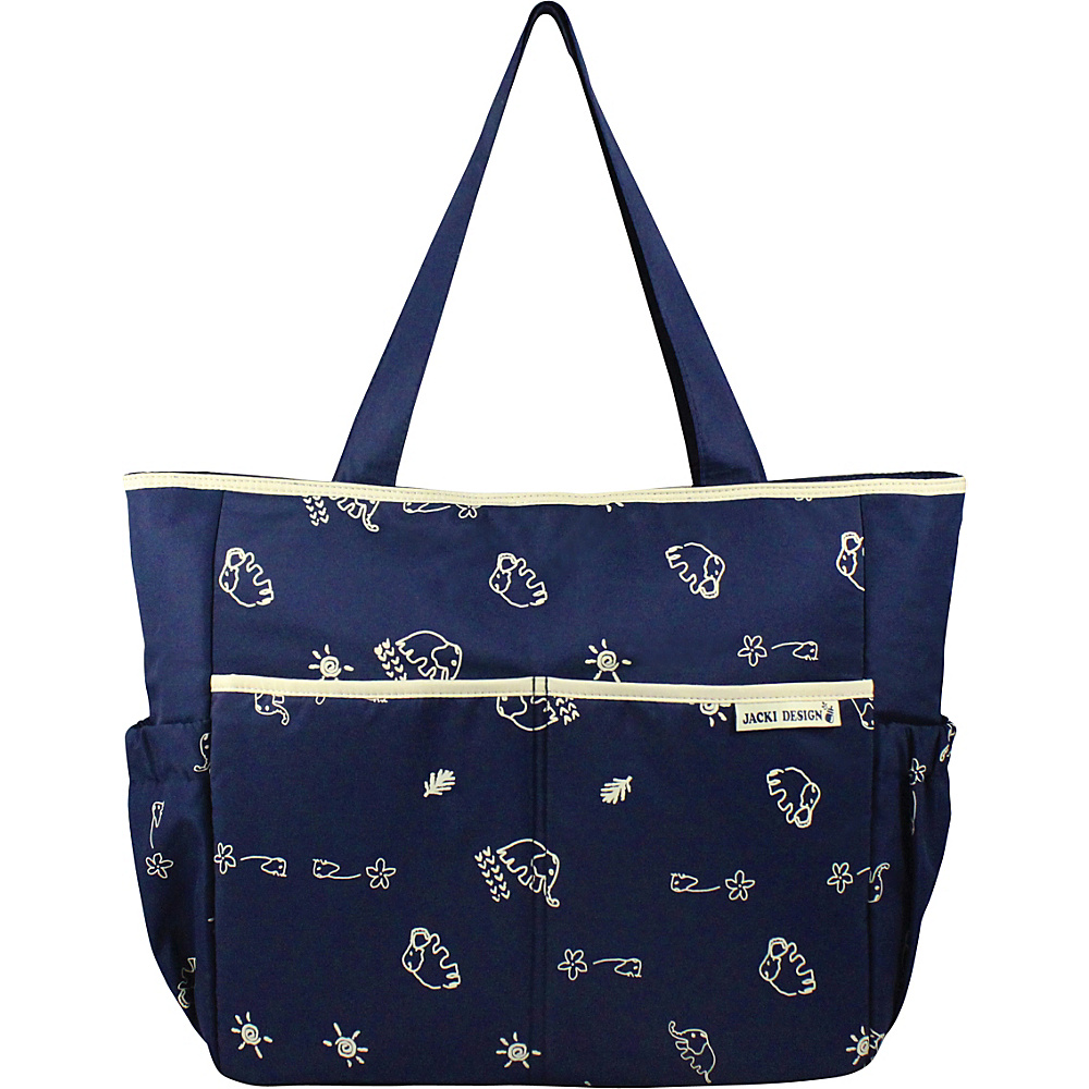 Jacki Design Printed Diaper Bag Blue Beige Jacki Design Diaper Bags Accessories