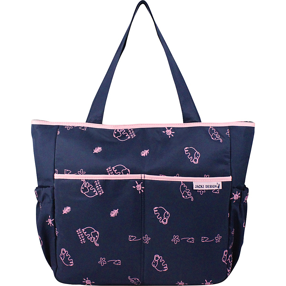 Jacki Design Printed Diaper Bag Blue Pink Jacki Design Diaper Bags Accessories