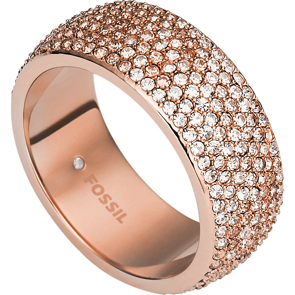 Fossil Ombre Glitz Ring Rose Gold - Size 7 - Fossil Jewelry - Fashion Accessories, Jewelry