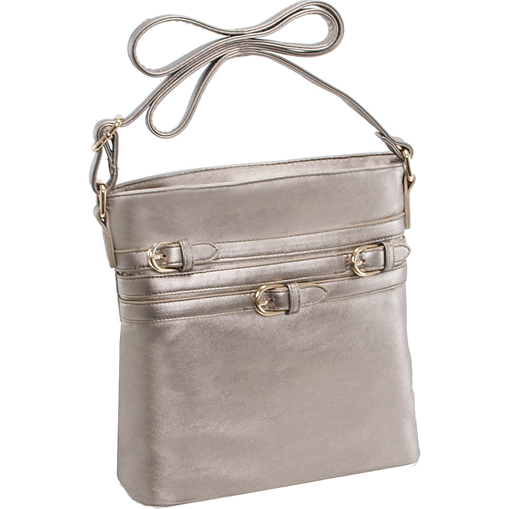 Parinda Clarice II Crossbody Bronze Parinda Manmade Handbags