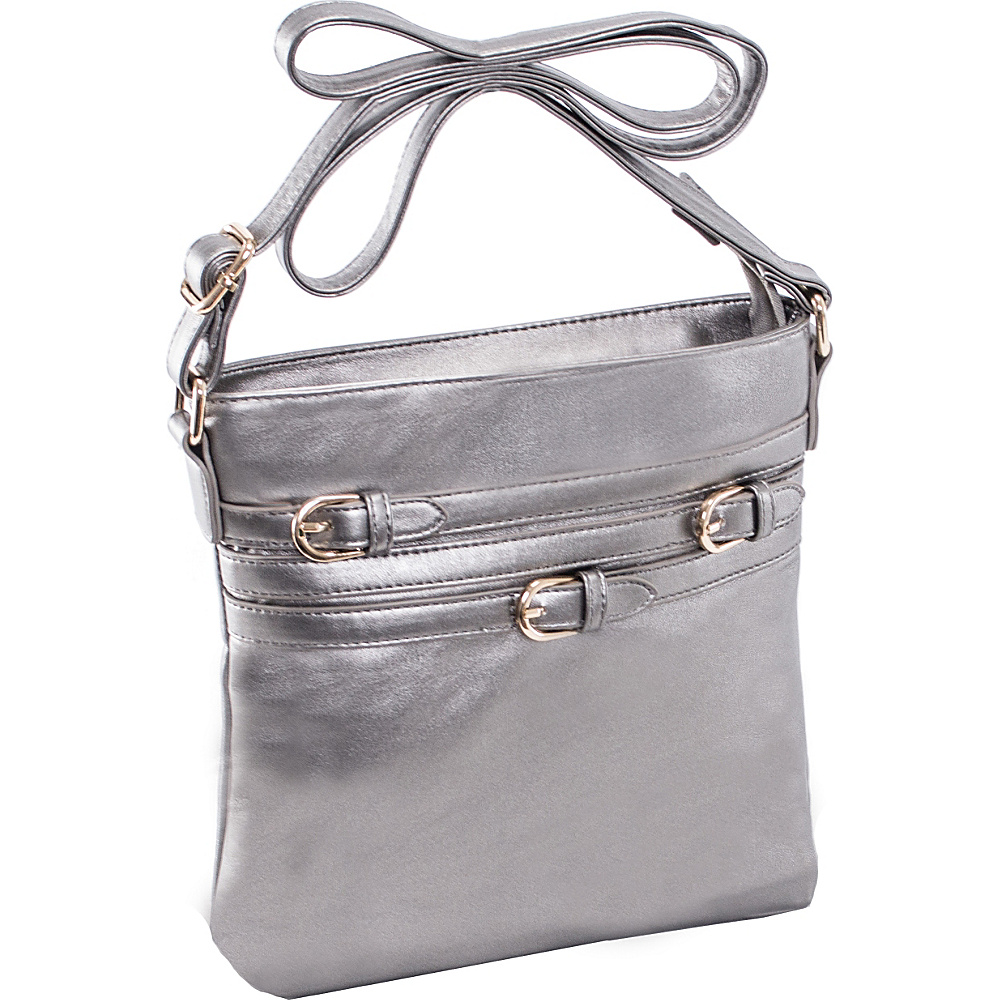 Parinda Clarice II Crossbody Pewter Parinda Manmade Handbags