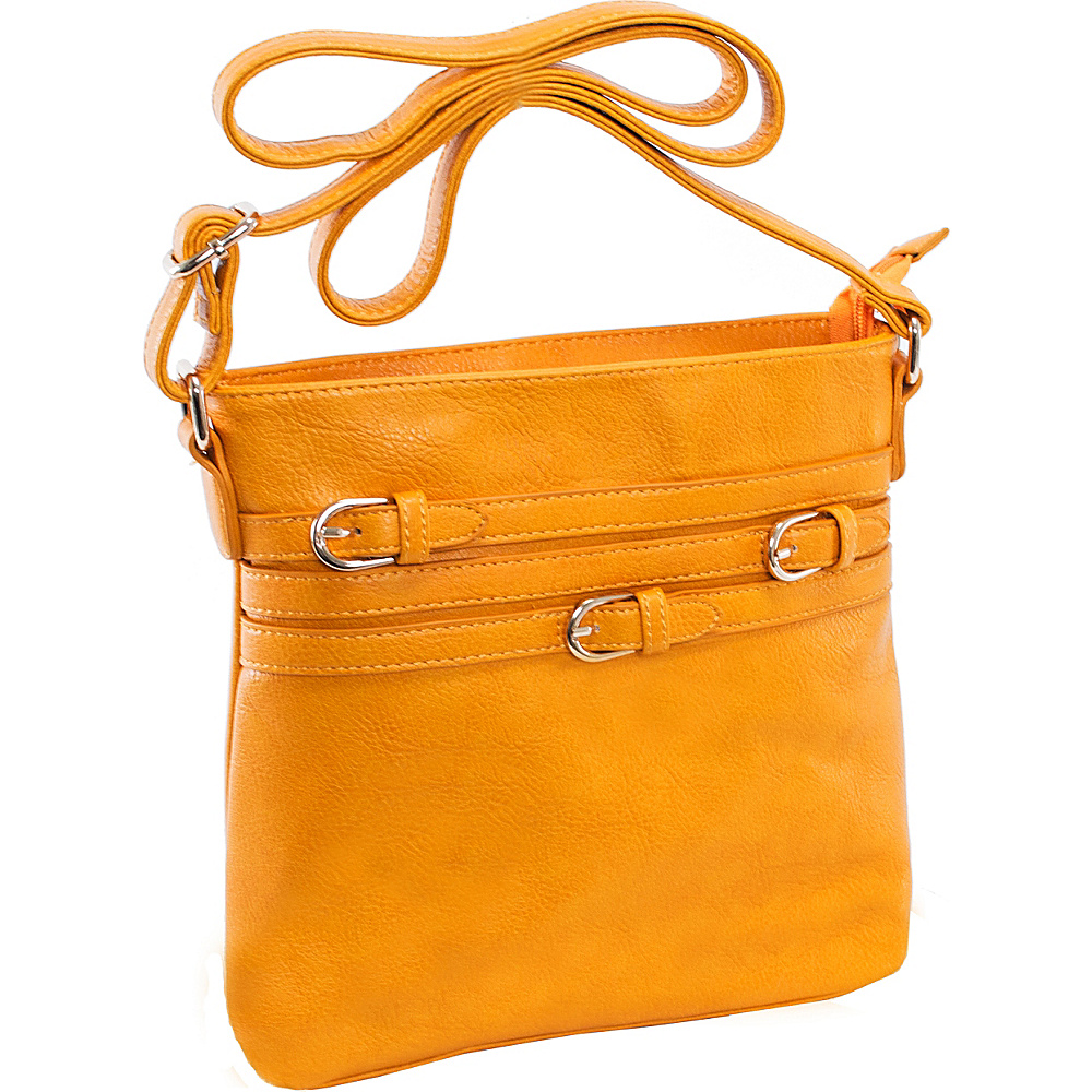 Parinda Clarice II Crossbody Mustard Tan - Parinda Leather Handbags