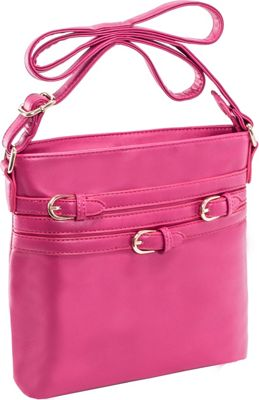 Parinda Clarice II Crossbody Fuschia - Parinda Leather Handbags