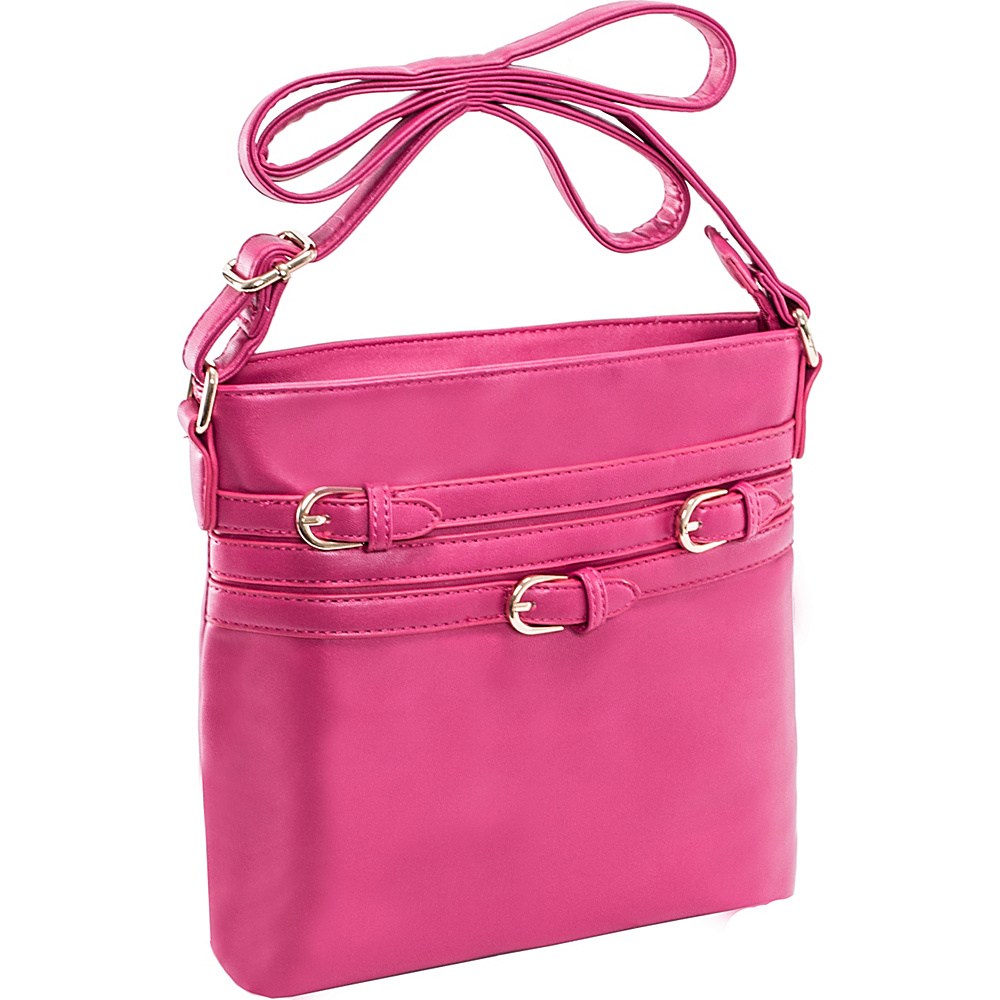 Parinda Clarice II Crossbody Fuschia Parinda Manmade Handbags