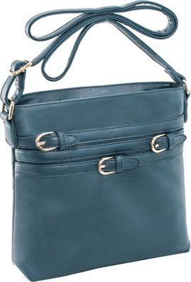 Parinda Clarice II Crossbody Dark Green - Parinda Leather Handbags