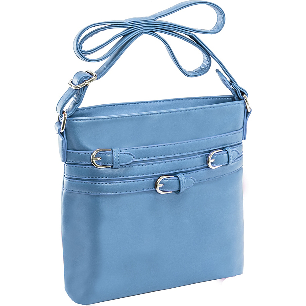 Parinda Clarice II Crossbody Aqua Blue Parinda Manmade Handbags