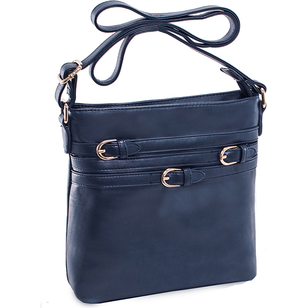 Parinda Clarice II Crossbody Navy Parinda Manmade Handbags