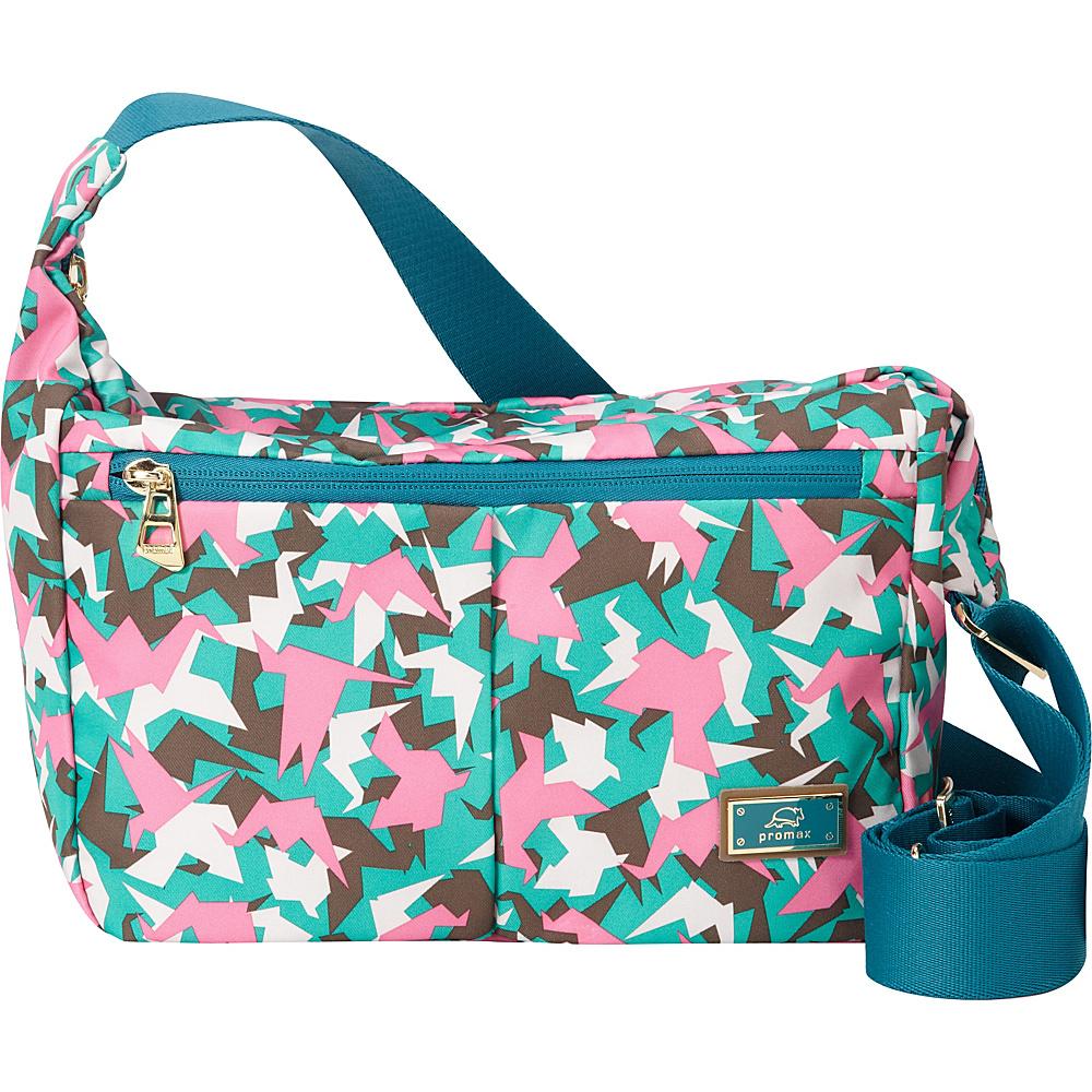 Promax Chi Chi iPad Crossbody Shoulder Bag Green Bird - Promax Fabric Handbags