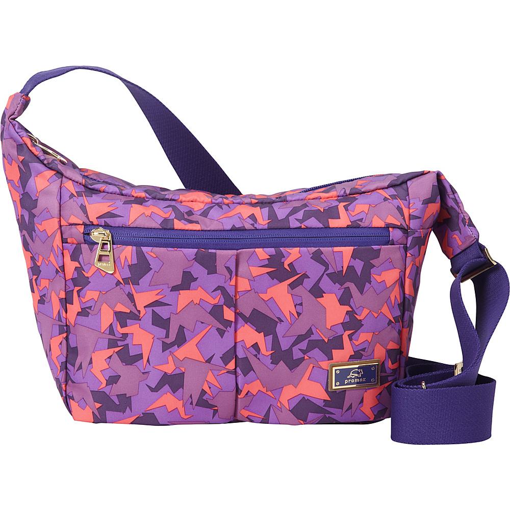 Promax Chi Chi iPad Crossbody Shoulder Bag Purple Bird - Promax Fabric Handbags