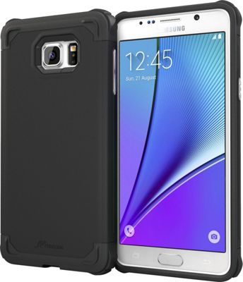 rooCASE Samsung Galaxy Note5 Case - Exec Tough Cover Black - rooCASE Personal Electronic Cases