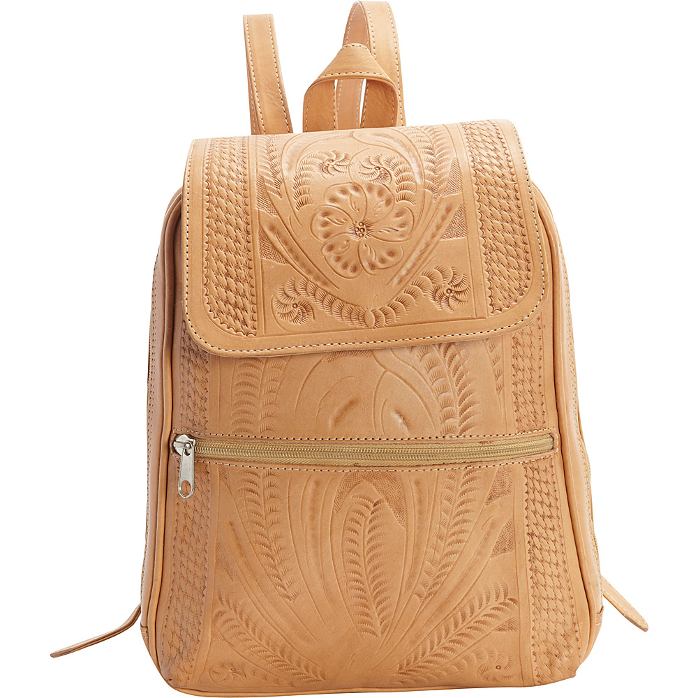 Ropin West Backpack Purse Natural - Ropin West Leather Handbags