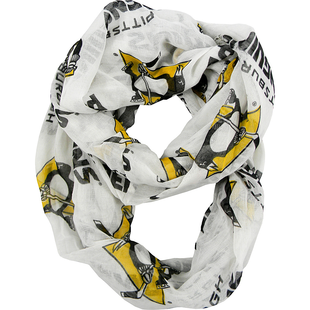 Littlearth Sheer Infinity Scarf Alternate - NHL Teams Pittsburgh Penguins - Littlearth Hats/Gloves/Scarves - Fashion Accessories, Hats/Gloves/Scarves
