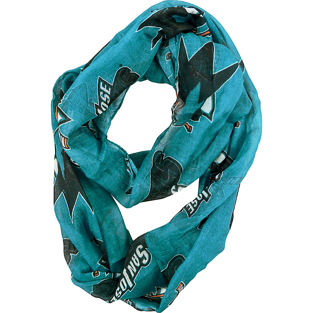 Littlearth Sheer Infinity Scarf Alternate - NHL Teams San Jose Sharks - Littlearth Hats/Gloves/Scarves - Fashion Accessories, Hats/Gloves/Scarves