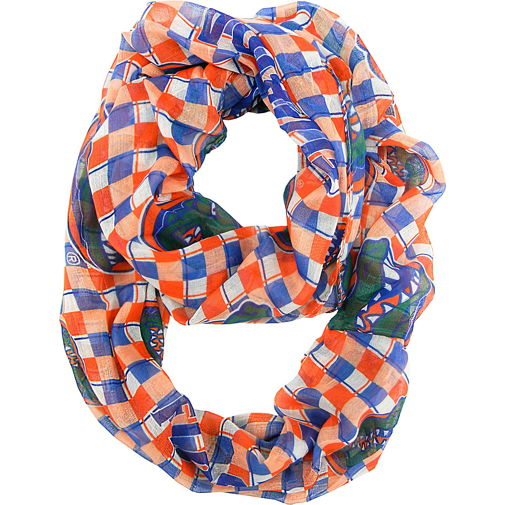 Littlearth Sheer Infinity Scarf Plaid - SEC Teams Florida, U of - Littlearth Hats/Gloves/Scarves - Fashion Accessories, Hats/Gloves/Scarves