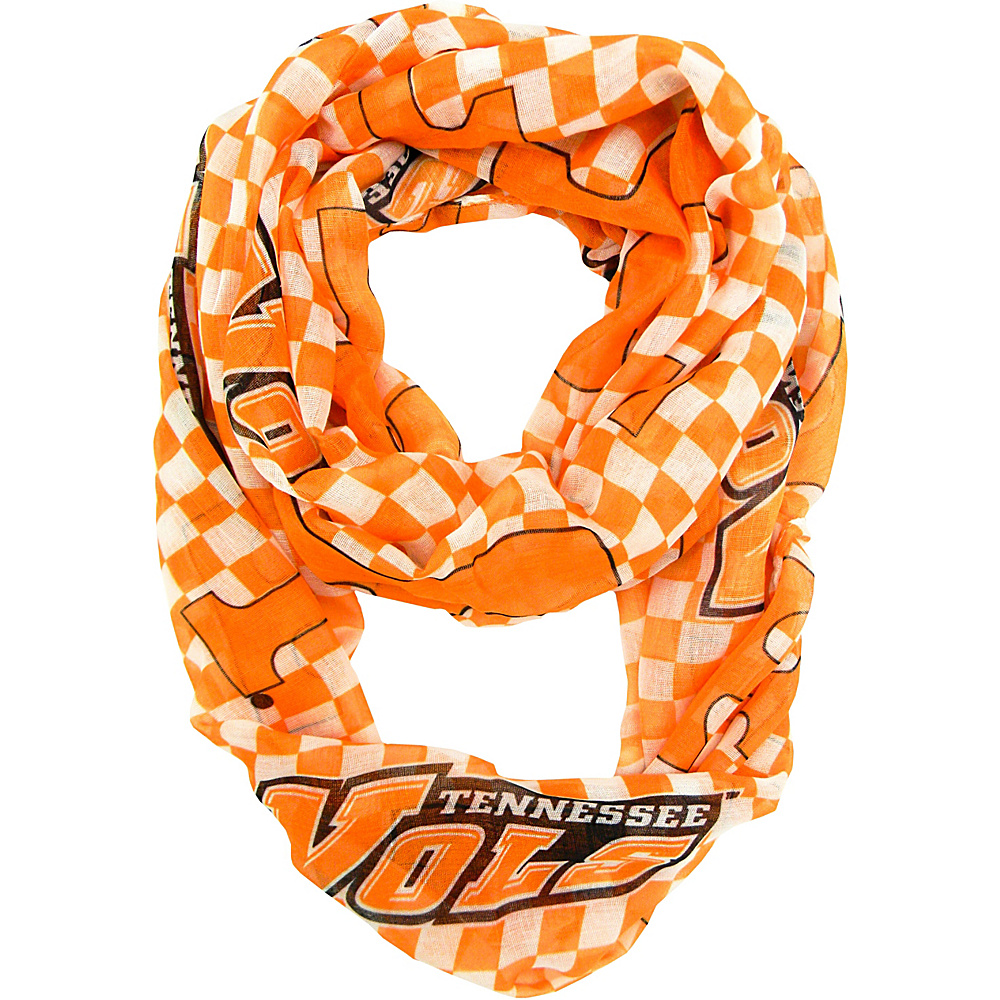 Littlearth Sheer Infinity Scarf Plaid - SEC Teams Tennessee, U of - Littlearth Hats/Gloves/Scarves - Fashion Accessories, Hats/Gloves/Scarves