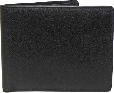 Boconi Grant RFID Billfold Black Leather with Gray - Boconi Men's Wallets
