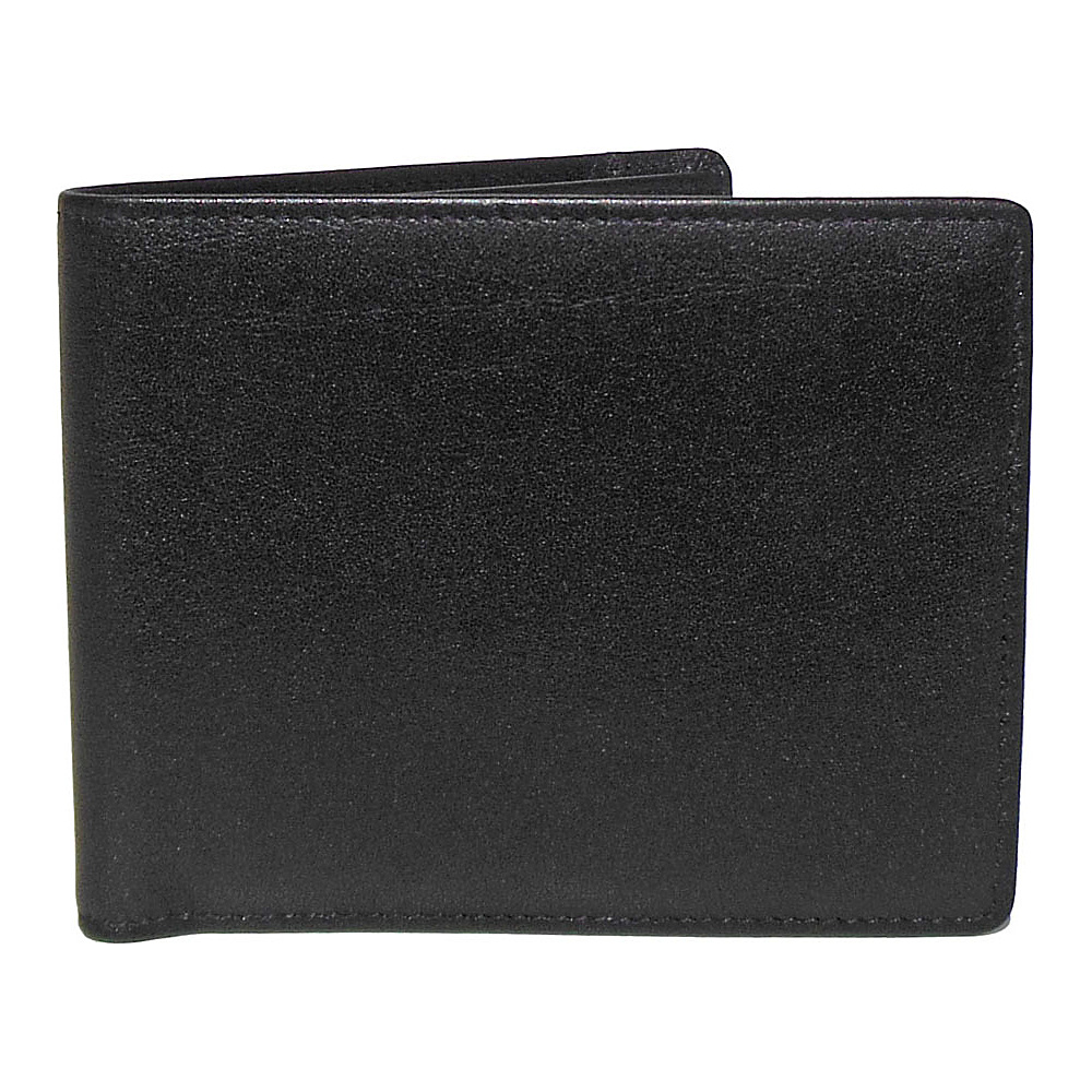 Boconi Grant RFID Billfold Black Leather with Gray Boconi Men s Wallets
