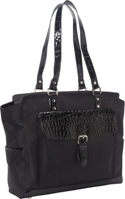 Heritage Nylon Twill Computer Tote Black - Heritage Women's Business Bags