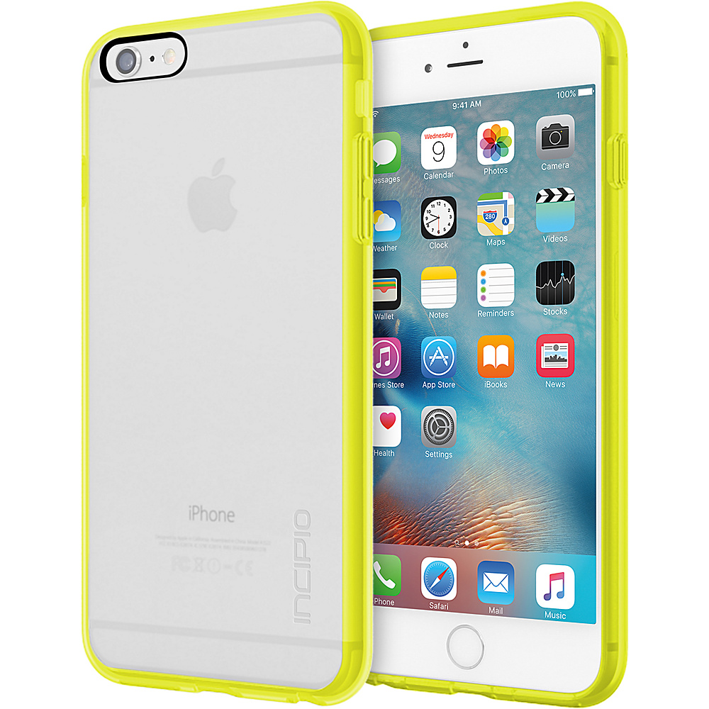 Incipio Octane Pure for iPhone 6/6s Plus Clear/Lime - Incipio Electronic Cases - Technology, Electronic Cases