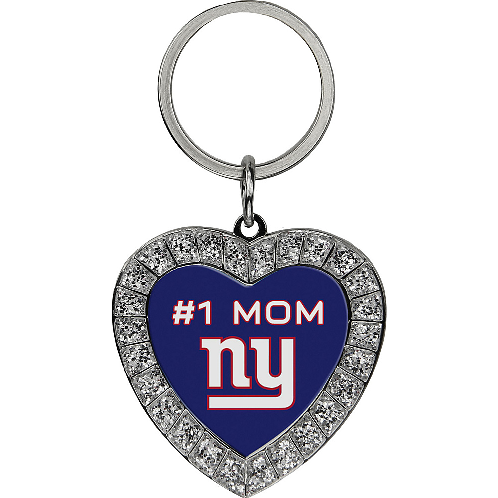 Luggage Spotters NFL NY Giants #1 Mom Rhinestone Key Chain Blue - Luggage Spotters Women's SLG Other