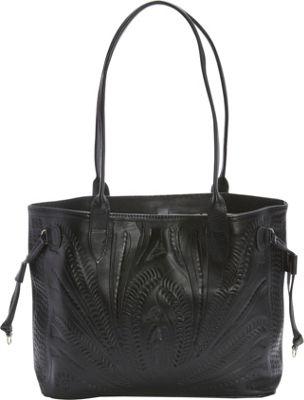 Ropin West Tote Black - Ropin West Leather Handbags