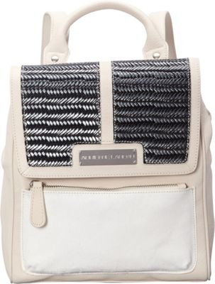 Adrienne Landau Ibiza Midtown Backpack Satchel White - Adrienne Landau Leather Handbags