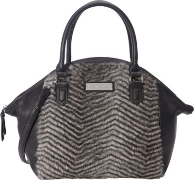 Adrienne Landau Chevron Nolita Satchel Grey - Adrienne Landau Leather Handbags
