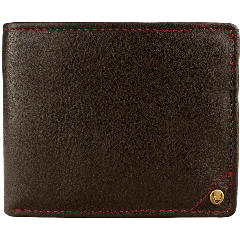 Hidesign Angle Stitch Leather Multi-Compartment Leather Wallet Brown - Hidesign Mens Wallets