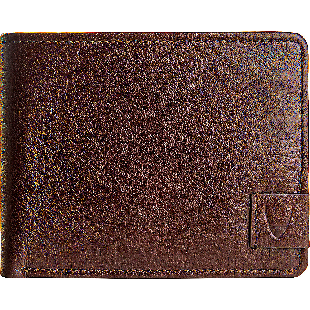 Hidesign Vespucci Buffalo Leather Slim Bifold Wallet Brown Hidesign Men s Wallets