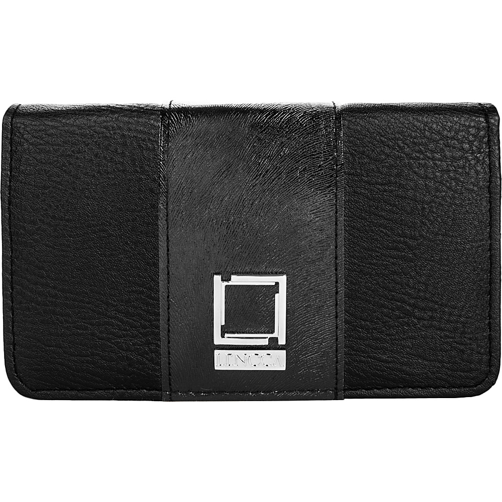 Lencca Kyma Crossbody Shoulder Clutch Black Black Lencca Manmade Handbags