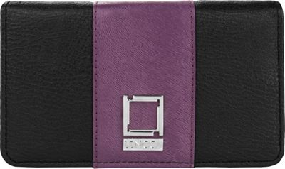 Lencca Kyma Crossbody Shoulder Clutch Black/Purple - Lencca Manmade Handbags