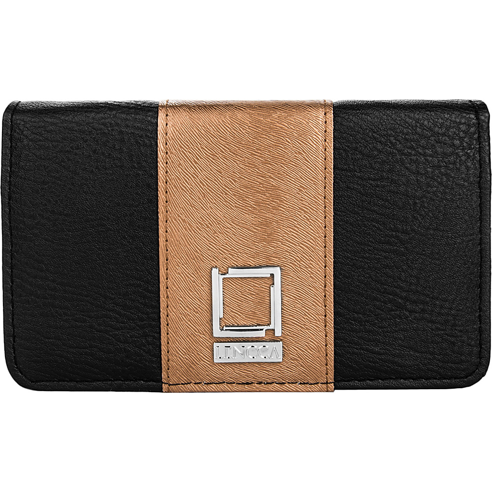 Lencca Kyma Crossbody Shoulder Clutch Black Copper Lencca Manmade Handbags