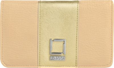 Lencca Kyma Crossbody Shoulder Clutch Beige/Gold - Lencca Manmade Handbags
