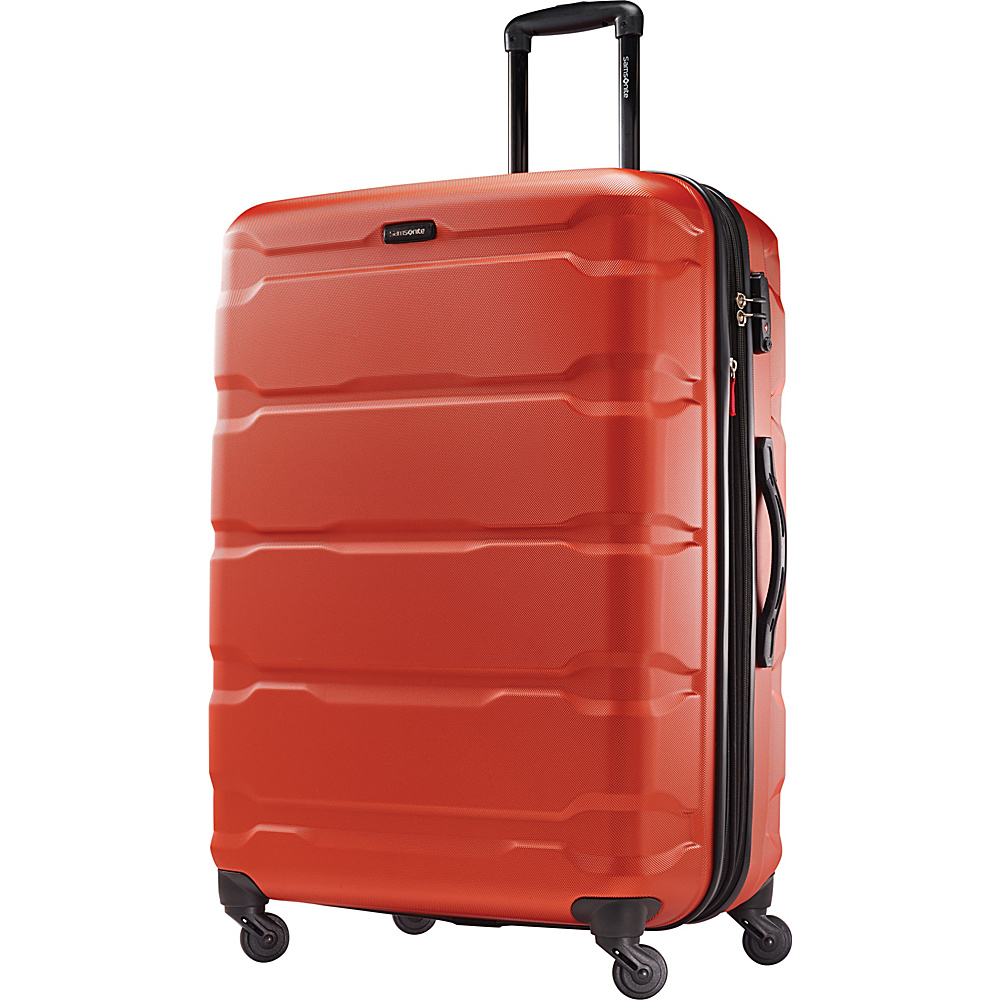 Samsonite Omni PC Hardside Spinner 28 Burnt Orange Samsonite Hardside Checked