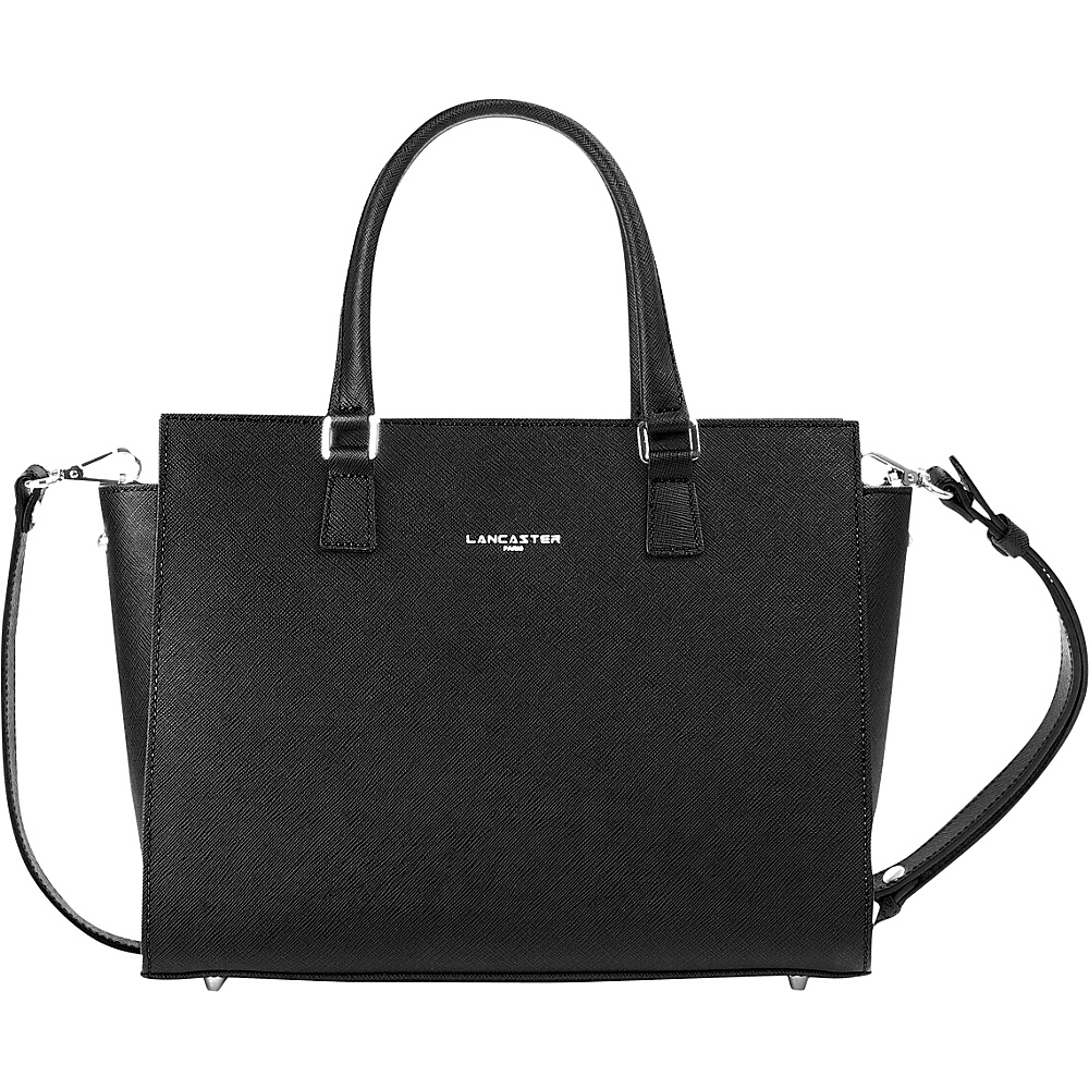 Lancaster Paris Adele Satchel Black Lancaster Paris Leather Handbags