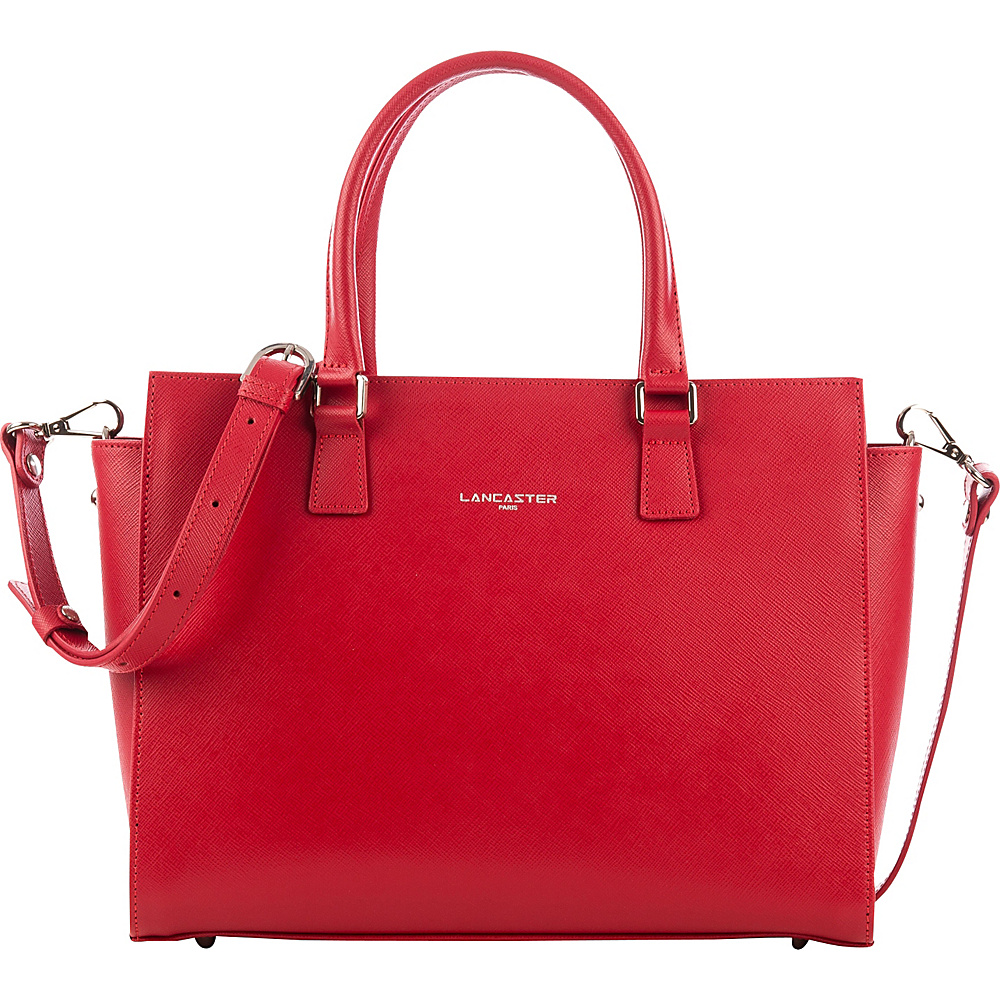 Lancaster Paris Adele Satchel Red Lancaster Paris Leather Handbags