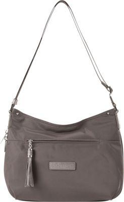 Lancaster Paris Nylon Tassel Traveler Taupe - Lancaster Paris Fabric Handbags