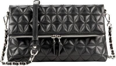 Lancaster Paris Parisienne Matelasse' Foldover Clutch Black - Lancaster Paris Leather Handbags