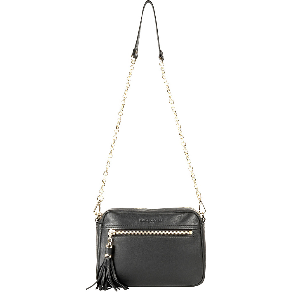 Lancaster Paris Mademoiselle Estelly Black Lancaster Paris Leather Handbags