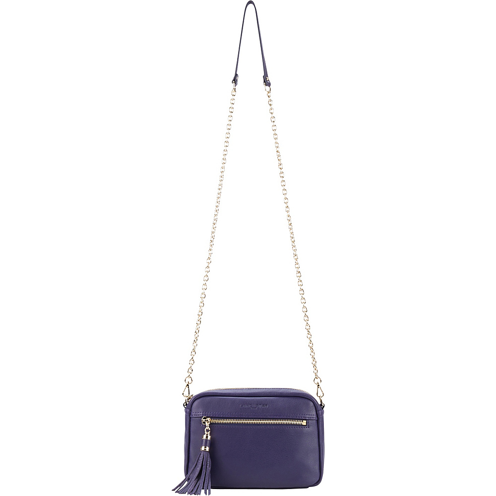 Lancaster Paris Mademoiselle Estelly Violet Lancaster Paris Leather Handbags