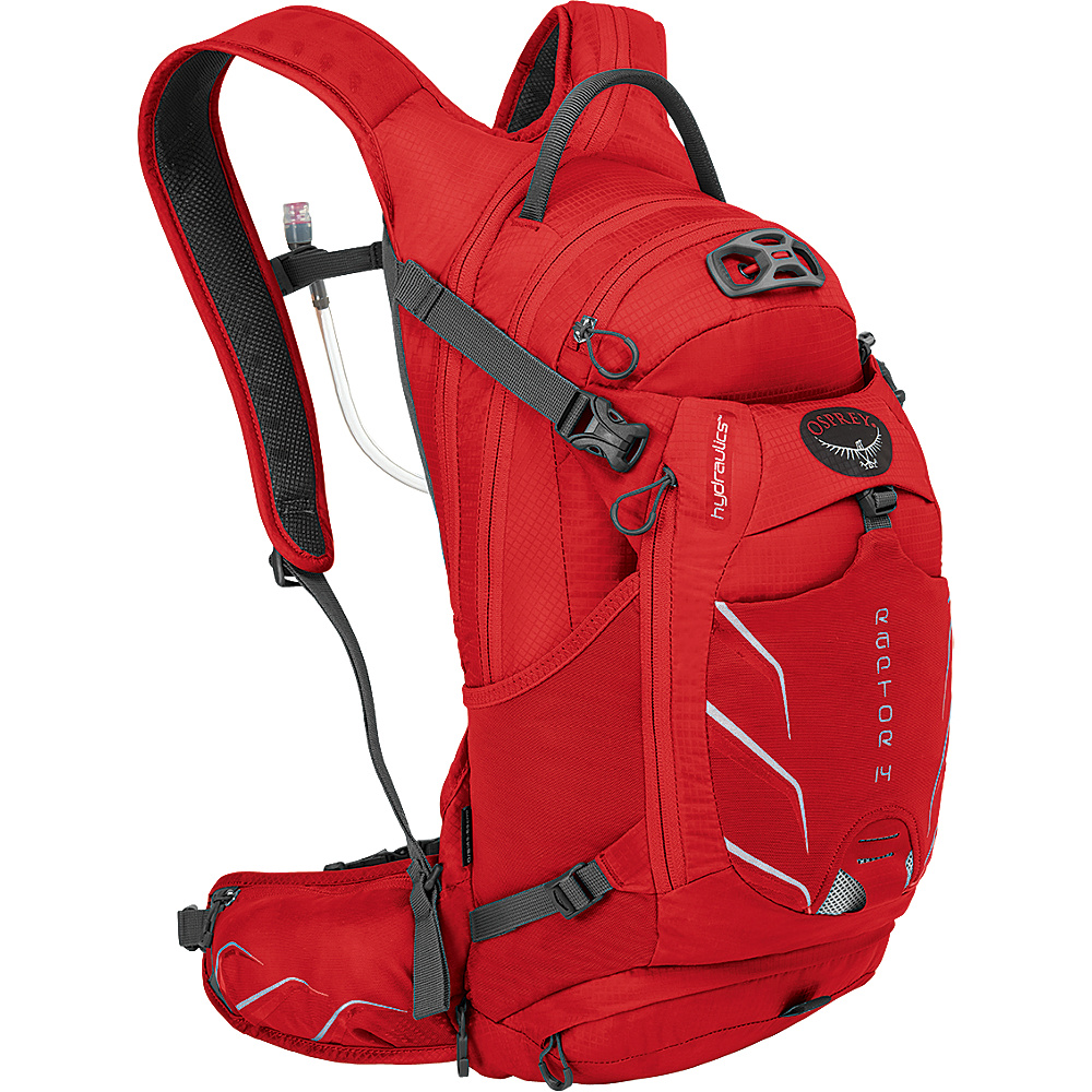 Osprey Raptor 14 Biking Backpack Red Pepper - Osprey Day Hiking Backpacks - Outdoor, Day Hiking Backpacks